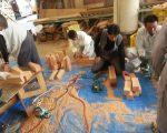 建て御柱足場作成作業